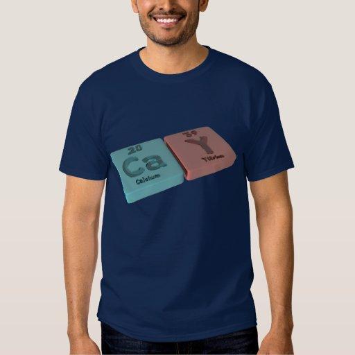 Isleta como el calcio del Ca e itrio de Y Camisas