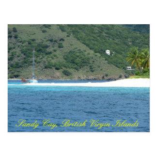Isleta de Sandy del velero @ Postales