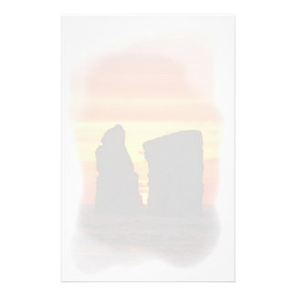 Islets at sunset stationery