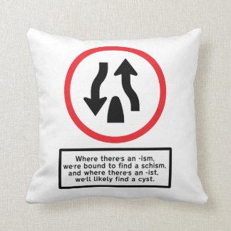 Ism Schism - Cushion Throw Pillows