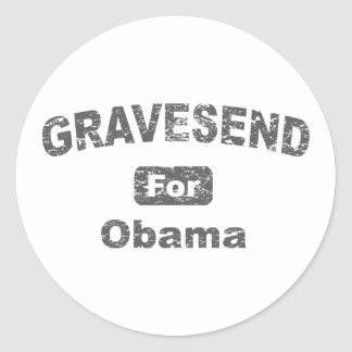 ismyhomeboy - Gravesend For Obama Classic Round Sticker