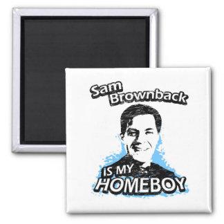 ismyhomeboy - Sam Brownback 2 Inch Square Magnet
