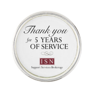 ISN Support Services Brokerage 5 Years of Service Lapel Pin