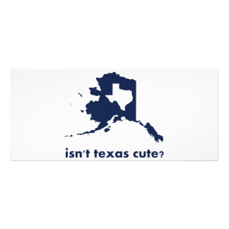 Isn't Texas Cute Compared to Alaska Rack Card