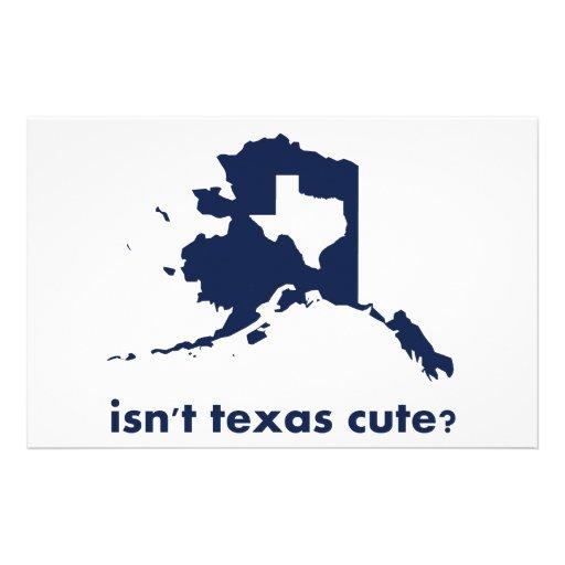 Isn't Texas Cute Compared to Alaska Stationery Design