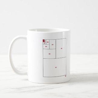 ISO 216 CLASSIC WHITE COFFEE MUG