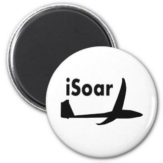 iSoar black logo Magnet