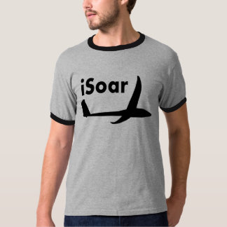 iSoar Black on White T-Shirt