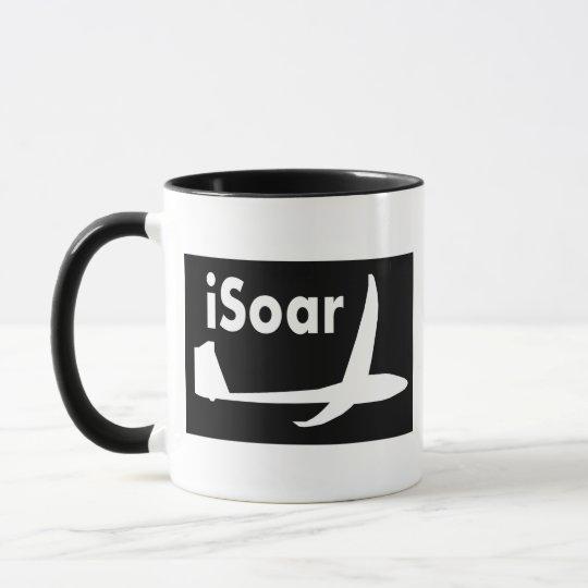 iSoar White on Black Mug