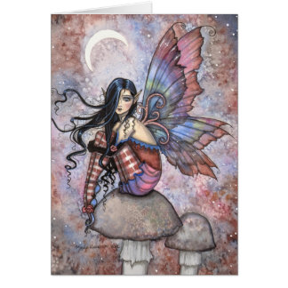 Isobel the Introvert Fairy Fantasy Art Greeting Card