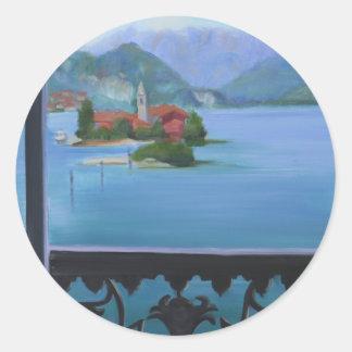 Isola Bella Balcony Classic Round Sticker