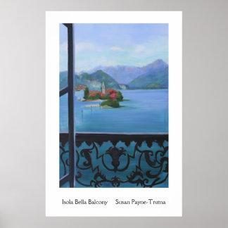 Isola Bella Balcony Poster