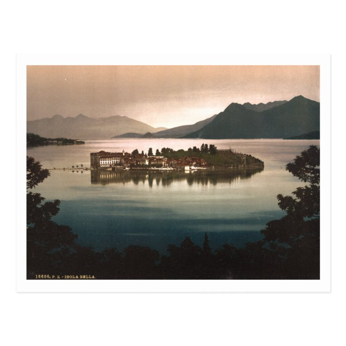 Isola Bella by Moonlight, Lake Maggiore, Italy Postcard