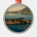 Isola Bella III, lago Maggiore, Piamonte, Italia Adorno Navideño Redondo De Metal