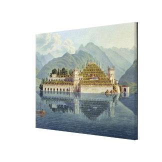 Isola Bella, Lake Maggiore: the terraced gardens, Canvas Print