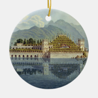 Isola Bella, Lake Maggiore: the terraced gardens, Double-Sided Ceramic Round Christmas Ornament