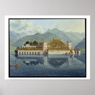 Isola Bella, Lake Maggiore: the terraced gardens, Poster