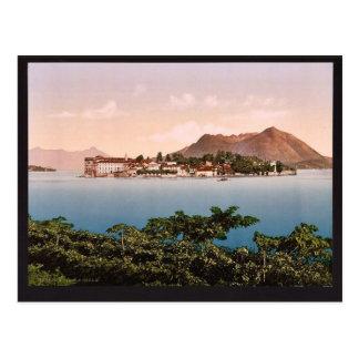 Isola Bella, Maggiore, lago de, vintage Phot de It Postal