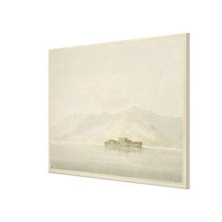 Isola Madre, Lago Maggiore, c.1781 (w/c over graph Canvas Print