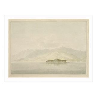 Isola Madre, Lago Maggiore, c.1781 (w/c over graph Postcard