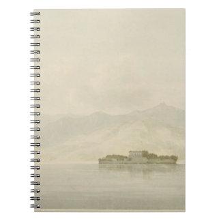 Isola Madre, Lago Maggiore, c.1781 (w/c over graph Spiral Notebook