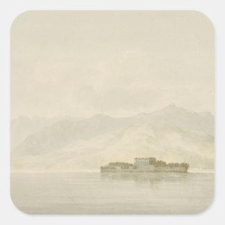 Isola Madre, Lago Maggiore, c.1781 (w/c over graph Square Sticker