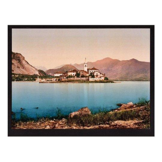 Isola Pescatori I, Maggiore, Lake of, Italy vintag Postcard