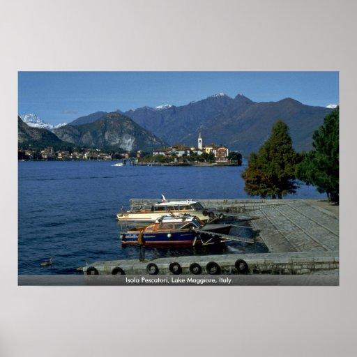 Isola Pescatori, Lake Maggiore, Italy Print