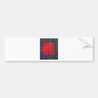 Isolated 16 Red Squares (Geometric expressionism) Bumper Sticker