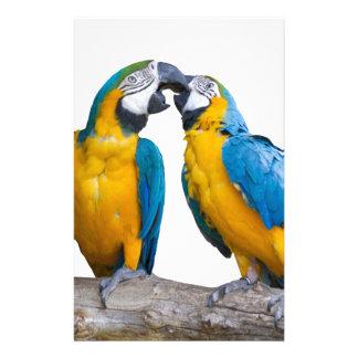 isolated ara ararauna parrot stationery