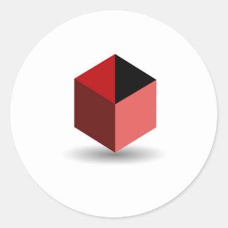 Isolated box classic round sticker