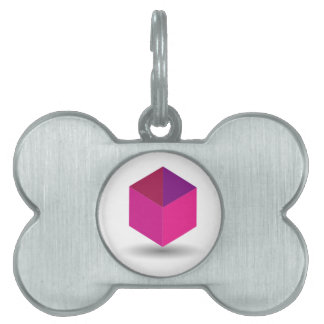 Isolated box pet ID tag