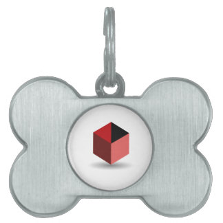 Isolated box pet tags