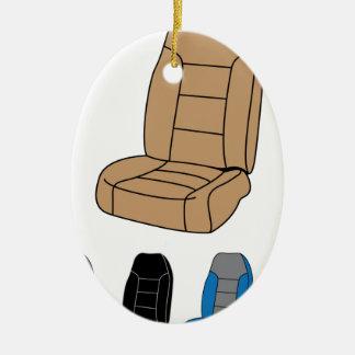 Isolated Car Seat Ceramic Ornament