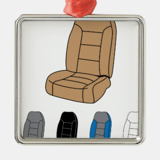 Isolated Car Seat Metal Ornament