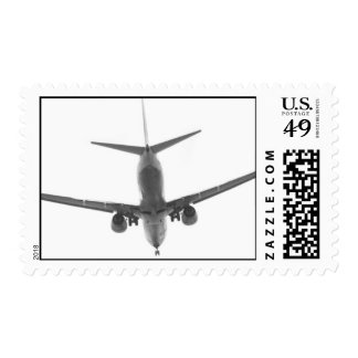 isolated commercial airline stamp