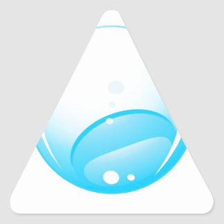 Isolated drop triangle sticker