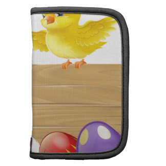 Isolated Easter Sign with Eggs and Chicks Folio Planners