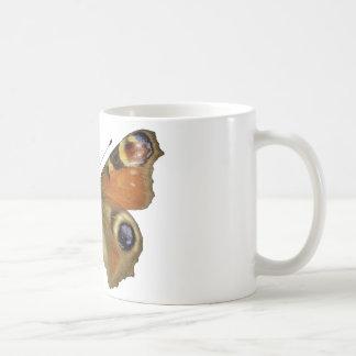 Isolated European Peacock butterfly Coffee Mug