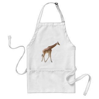 Isolated giraffe walking adult apron