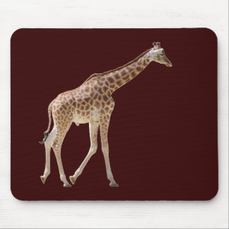 Isolated giraffe walking mouse pad