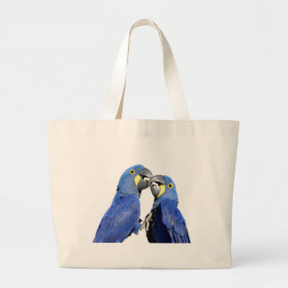 Isolated Hyacinth macaws Large Tote Bag