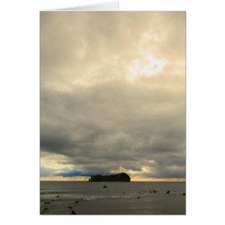 Isolated island card
