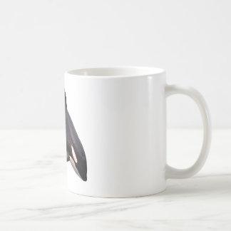 Isolated killer whale jumping coffee mug