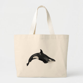 Isolated killer whale tote bags