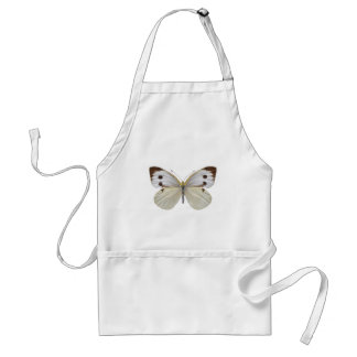 Isolated Large White butterfly PNG Adult Apron