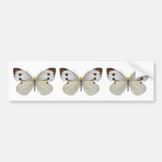 Isolated Large White butterfly PNG Car Bumper Sticker