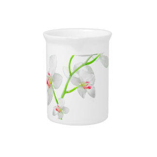 Isolated Orquideas Blossom Drink Pitcher