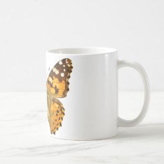 Isolated painted lady butterfly mugs