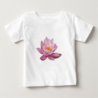 Isolated pink waterlily, background optional baby T-Shirt